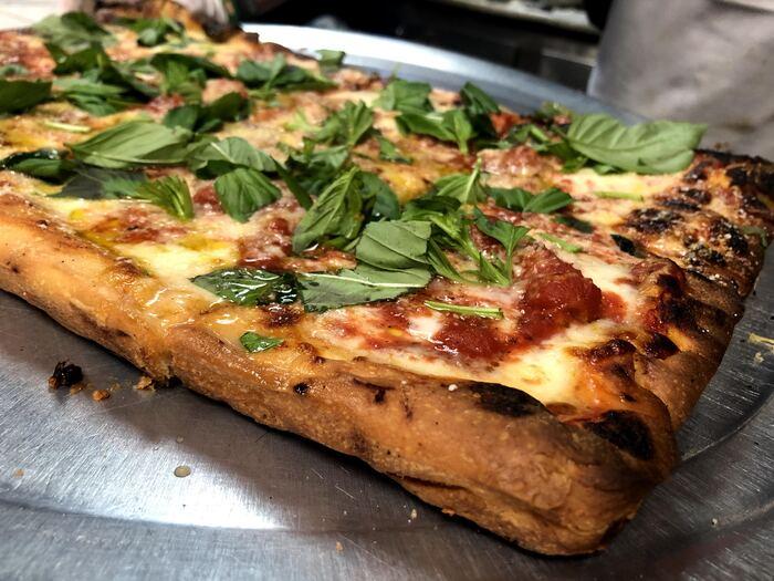 Square pizza at Di Fara